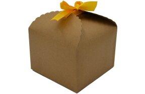 GIFT BOX  11,5x11,5x8,5cm WITH YELLOW RIBBON